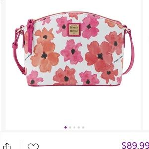 New Dooney & Bourke Red Floral Suki Crossbody Bag